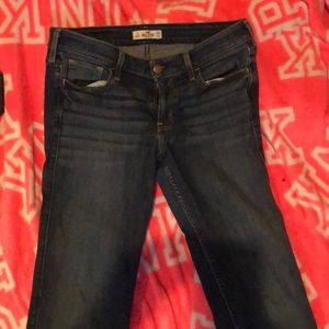Dark wash bootcut hollister jeans